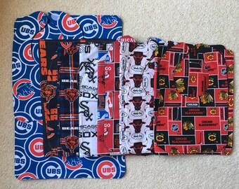 Baby Bib and Burp Cloth Sets - Wisconsin and Illinois Sports Teams