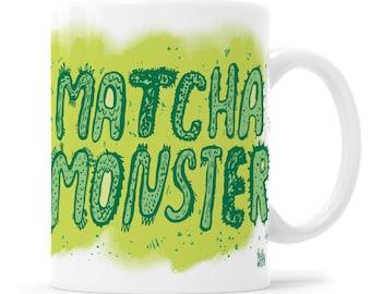 Matcha Cup Green Tea Cup Funny Mug Vegan Gift Matcha Green Tea Powder Matcha Tea Cup Vegan Cup Green Cup Health Mug  Monster Cup Monster Mug