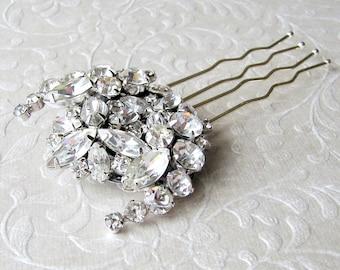 Rhinestone Bridal Hair Comb Vintage Jewelry Bridal Headpiece Formal Jeweled Wedding Hairpiece Downton Abbey Great Gatsby Bohemian Chic Bride