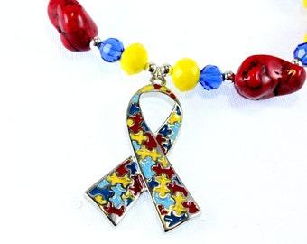 Autism Awareness Stretch Bracelet