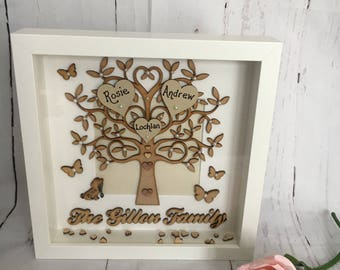 Beautiful Family Tree with Family Name Under Tree