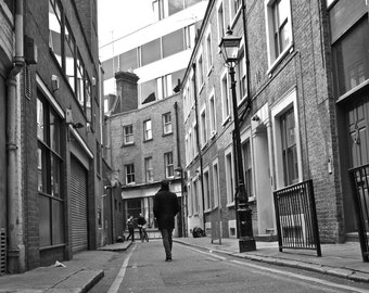 Black and White Photography - London Print Print - Alleyway - Hanway Place