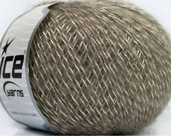 ICE LASER CREAM MOHAIR WOOL AND 50G FINGERING 3 //54 BEIGE