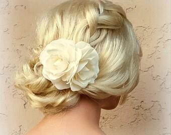 Elfenbein Blume Haarspange, Elfenbein Fascinator, Gardenien, Hochzeit Fascinator, Braut Haar-Clip, Blume Fascinator, Gardenie Blume Haarspange
