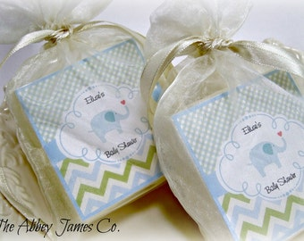 Baby  Boy Shower Favors, Elephant Baby Shower Favors, Soap Favors,  set of 10