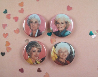 Golden Girls Pin Pack - One Inch Pinback Buttons