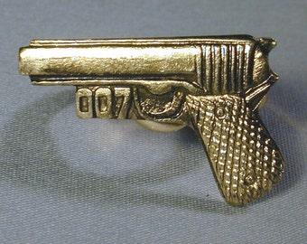 Original Vintage 1960s JAMES BOND 007 Gun Toy Ring