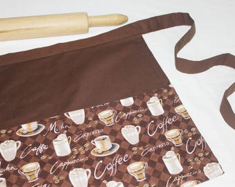 Coffee Cups Adult Apron
