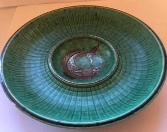 Vintage Gustavsberg Argenta Stoneware 7inch Dish