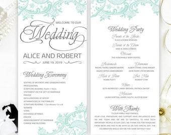Cheap wedding programs printed on shimmer paper Elegant