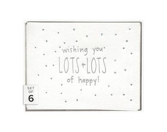 Lots of Happy letterpress card - set of six
