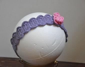Crocheted Butterfly Headband