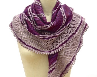 Clair de Lune Shawl PDF Knitting Pattern Instant Download (ENGLISH ONLY)