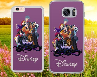DISNEY INSPIRED Villains bad guys   Phone Case Cover for iPhone and Samsung Models - Safe Tracked Postage
