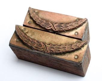 GRECIAN Laurel GARLAND 1903-1953 Antique GERMAN Copper Letterpress Cut printing block Greek