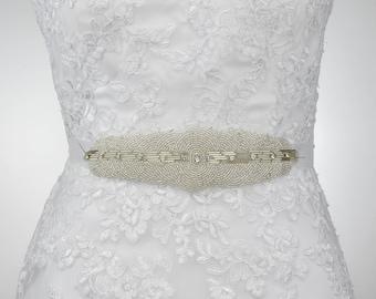 sale - Bridal Belt, Wedding Belt, Bridal Sash Belt, Bridesmaid Sash Belt, Wedding Dress Belt, Beaded Rose Gold Sash Belt, Dress Belt B174.1
