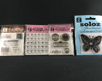 Assorted Clear Stamps from Studio g