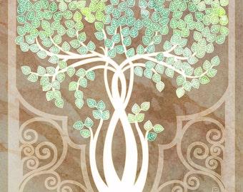 The Birch Tree - 8x8 Tree motif illustration