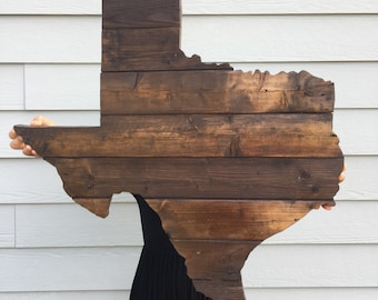Large Texas made from reclaimed wood, Large Reclaimed Wood Texas Wall Art, Large Rustic Texas