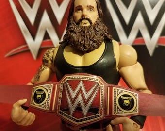 Braun Strowman Universal Heavyweight Championship belt for wrestling figures
