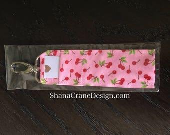One Clip-On Lip Gloss Holder . Cherries