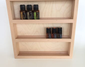 Small Essential Oil Storage and Display Shelf, Holds up to 27 oils. doTERRA, Young Living and Aromatherapy 5 & 15ml oil bottles