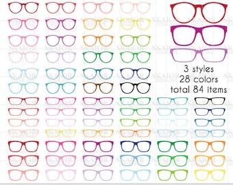 Glasses Clipart Vector Glasses Clip Art Rainbow Glasses Scrapbooking Glasses Planner Sticker Clipart Hipster Glasses Eyeglasses Clipart