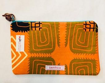Purse - African - Thema Pouch -  orange wild