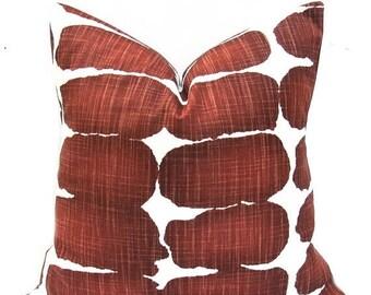 15% Off Sale Red Pillow Cover, Red Pillow, Rust pillow, Decorative Pillows, Pillow covers, Burgundy Pillows, Red Pillows, Accent Pillow, Thr