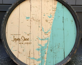 The Jersey Shore Map Barrel End