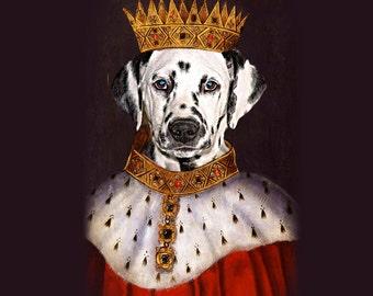 SINGLE Pet Portrait - King Henry Custom Renaissance Pet Dog/Cat Portraits - Digital personalized portrait painting using your Pet's Photo