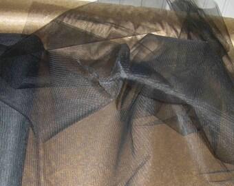 Black TULLE fabric width 1.40 m price pr 1 m