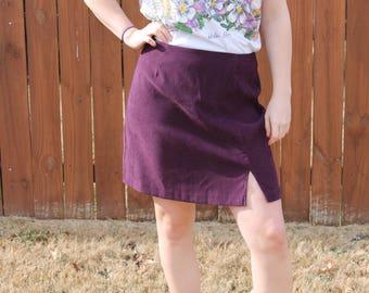 Vintage Purple Highwaisted Miniskirt