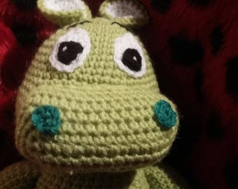 plush or amigurumi Hippo Green
