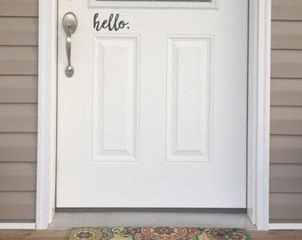 Hello Front Door Decal
