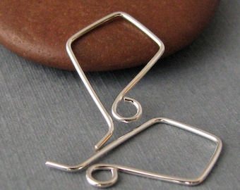 Silver Filled Earwires Kite II, Handmade Earring Findings, Signature Series, 3 pair