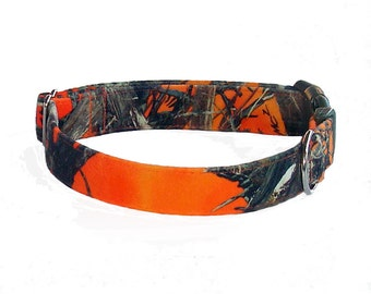 Blaze Orange True Timber Camo Dog Collar