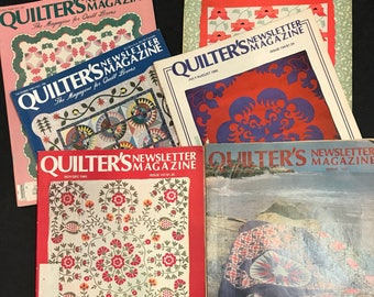Quilter's Newletter Magazine 6 back issues from the 1980's full of Quilting Patterns