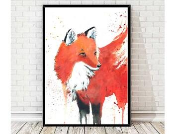 Sleeping Fox - Print