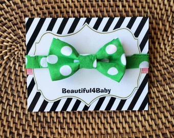Emerald Baby Bow Tie, Toddler Bow Tie, Green Baby Bow tie,Baby Bow Ties, Toddler Bow Ties, Baby Bow