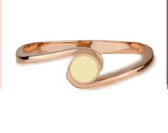 Ring blanks  Bezel setting - solid 10k Rose Gold  - custom made size