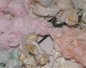 Artificial Flowers, Small Fabric flowers, Decorative Flowers