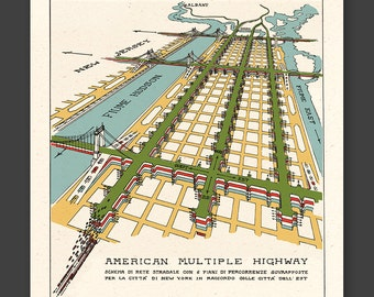NEW YORK 1929 - American Multiple Highway - FREE shipping