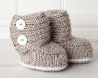 Baby Boots Knitting Pattern, Knit Booties PDF Pattern, Baby Knit PDF, Knitted Baby Boots Pattern, JADEN Instant Download pdf Pattern