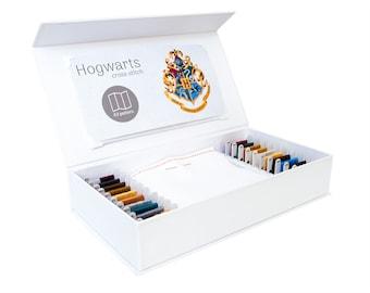 Hogwarts Kreuz Stich Kit, Stitchering-Box, moderne Kreuzstich Kit, organisiert Materialien von höchster Qualität, für Anfänger und erfahrene