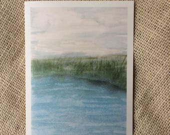 Watercolor Note Card, Landscape Cards, Thank You Cards, Hand Painted Cards, Set of Notecards,
