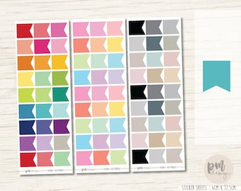 EC Flag Stickers - EC Planner Stickers - FL06