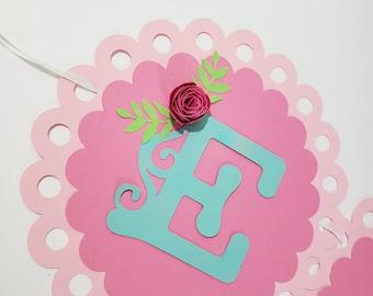 Floral Name Banner