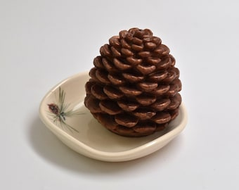 Pine cone glycerin soap, Christmas gift soap, holiday gift soap, rustic wedding favor, hostess gift, stocking stuffer, country chic,