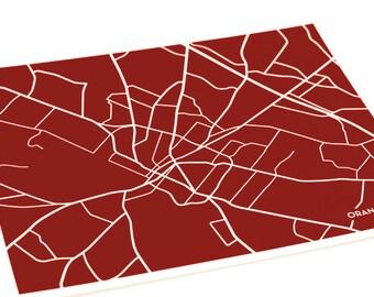 Orangeburg, SC Map Art City Print / South Carolina State University Dorm Decor Poster / 8x10 / Personalized colors